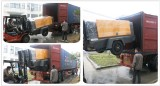 Portable diesel air compressor delivered to Chile
