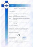 certificate for glass basin