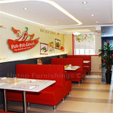 Latest project fast food cafe restaurant tables and chairs