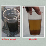 Filtering Waste Oil