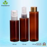 Amber cosmetic bottle