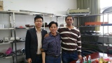 India customer come to visit and discuss about the roll forming machines