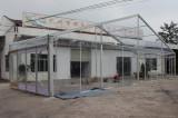 18m span transparent tent with sliding glass door in Austrilia