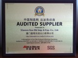 Audited Supplier Certificate - 2012-2013
