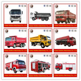 Fire Truck and Dump Trucks