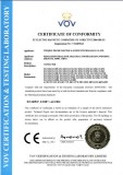 CE certificate of SLC1-D contactors
