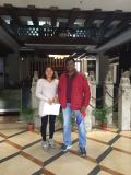 India customer visiting in 9Fang roof showroom