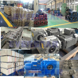 MTN series helical worm gear reducer in production