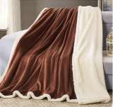 100% Polyester Flannel Blanket with Sherpa Backside