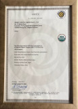 Organic Certificate by USDA