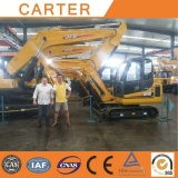 Australian clients visit Carter CT18 CT45 mini excavator
