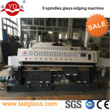 9 spindle Vertical glass straight line edging machine