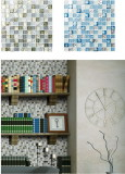 Crystal +shell mosaic for decoration tile
