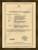 RoHS Certificate for Business Card Scanner