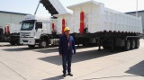 Indian Customer Order Tractor Truck and Tipping Semi-trailer For Ghana Business