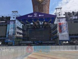 Crowd control barrier used in China Joy