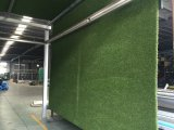 Landscaping and leisure synthetic grass turf under processing