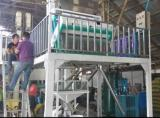 Color sorter machine running in factory in Myamar