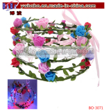 LED Flashing Floral Flower Hairband Headband Light-up Wedding Accessory