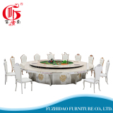 Big Size Round Stainlesss Steel Dining Table for Hotel