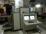 DHL using SECU SCAN x-ray luggage scanner for parcel inspection