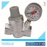Water reducing pressure valve with gauge