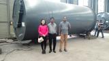 Bangladesh customer checking plant loading for 10Ton pyrolysis plant