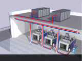 closed water chiller for blow moulding
