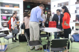 meeting with customers in the show