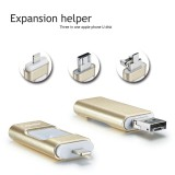 3 in 1 OTG USB Flash Drive for Iphone Android PC