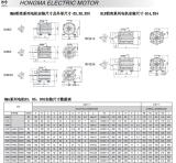Aluminum shell motor installation size