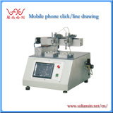 Mobile Touch screen click/line draw tes machine