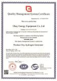 Okay Energy ISO9001 Certificate