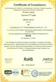 CTP plate Rosh Certificate