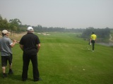 golf with customer