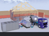 construction concrete batch process air cooled water chiller