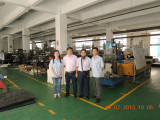Customer in our factory