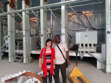 Customer from Nigeria came to inspect the rice milling machines we installed