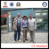 Mr Li with russian client at machine exhibition