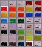 acrylic color card