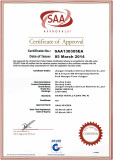 SAA certificate for heating cable