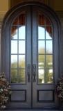 round top iron french door