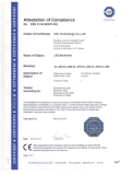 CE CERTIFICATE FOR DOWNLIGHT