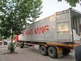 Rhino machines are loadred into 40ft container