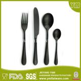 FDA Certificated Food Grade Matte Black Cutlery Set