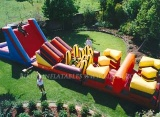 inflatable obstacle course, inflatable game
