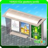 Outdoor furniture advertising metal bus shelter
