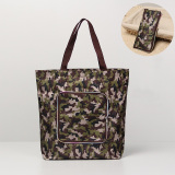 Waterproof Oxford Shopping Bag Convenient Green Floding Shopper Bag