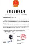 Certificate of Measurement