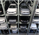 quad storage stacker car parking system